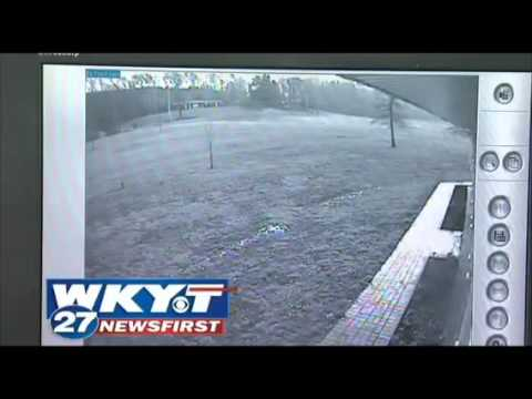 Family's surveillance cameras rolling as tornado...
